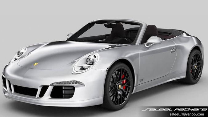 porsche 911 carrera gts cabriolet 2015 3d model max obj. Black Bedroom Furniture Sets. Home Design Ideas