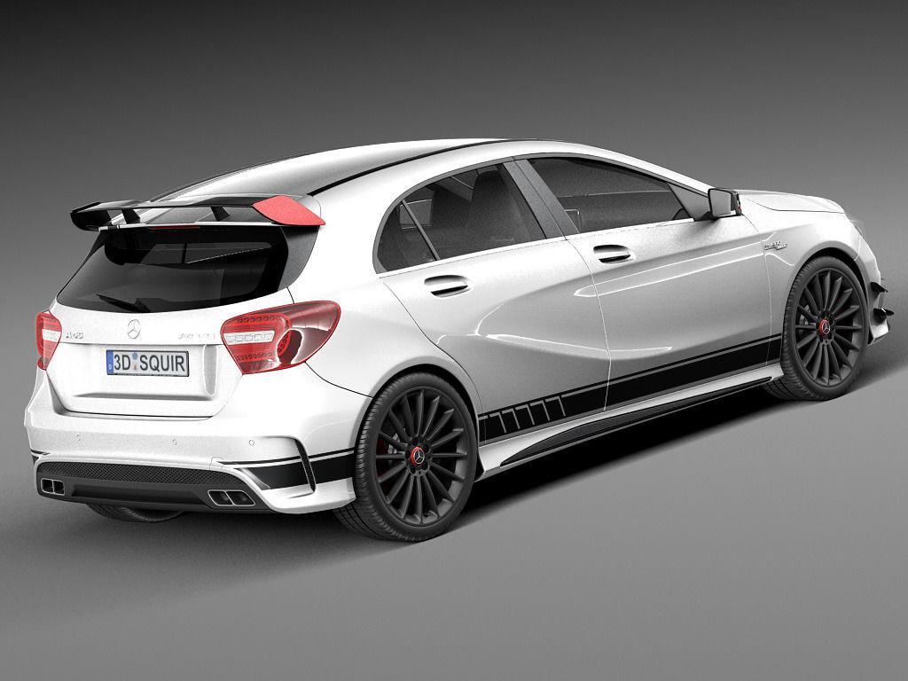 Mercedes benz a45 amg edition 1 2014 3d model max obj for Mercedes benz amg a45