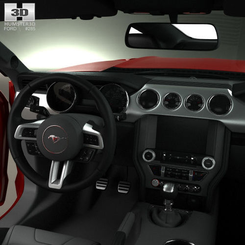 Ford Mustang Gt With Hq Interior 2015 3d Model Max Obj 3ds Fbx C4d Lwo Lw
