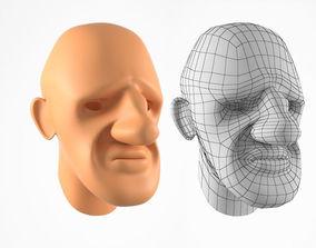 Head for Cartoon Character 3D model
