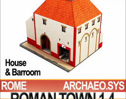 Roman Town House And Barroom Block 1 4 Low Poly 3D Model