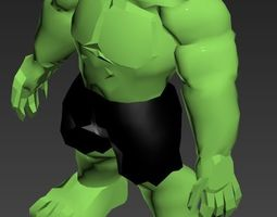 low-poly The Incredible Hulk model