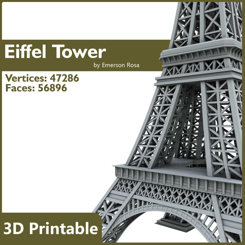 3D Printable - Eiffel Tower