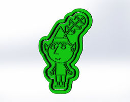 Ben and Holly Cookie Cutter 3D print model