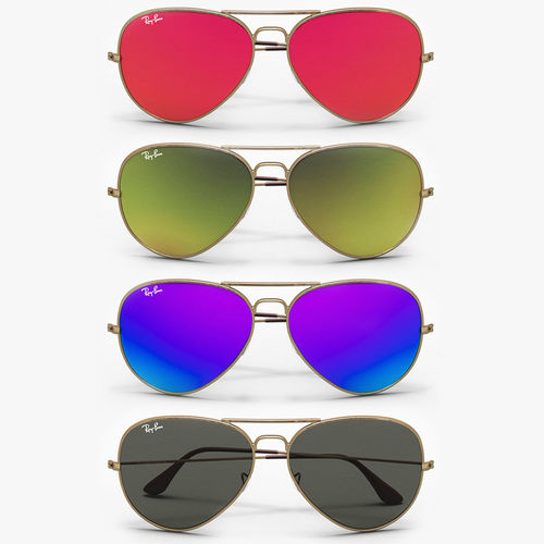 colored aviator sunglasses 3d model max obj mtl fbx 1