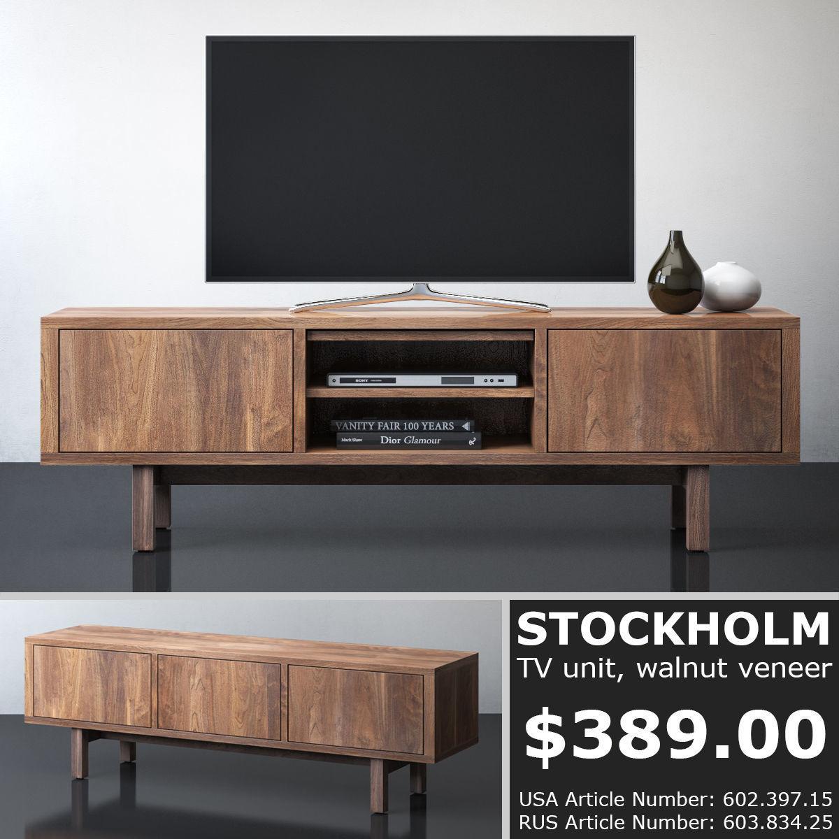 Ikea Stockholm Tv Unit 3d Model