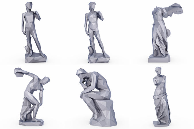 sculptures low poly 3d model low-poly max obj mtl 3ds fbx stl 1