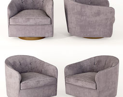 3D model Pair of Milo Baughman Tilt Swivel Club Chairs