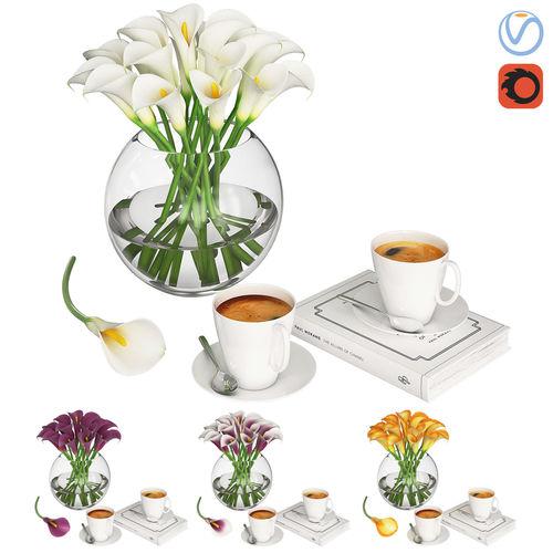 calla flowers 3d model max obj mtl 1