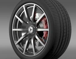 AMG Mercedes Benz S 63 wheel 3D Model