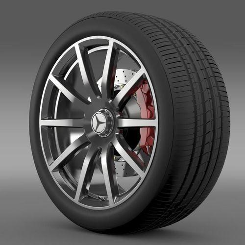 AMG Mercedes Benz S 63 wheel3D model