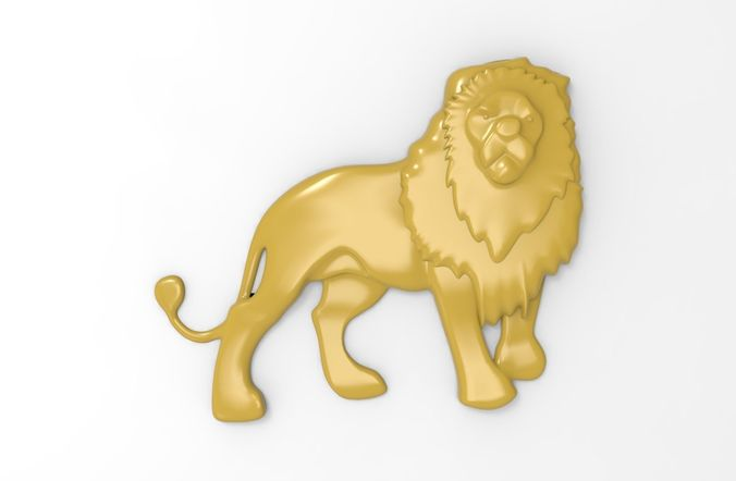 printable lion relief 3d model obj mtl stl 3dm stp 1