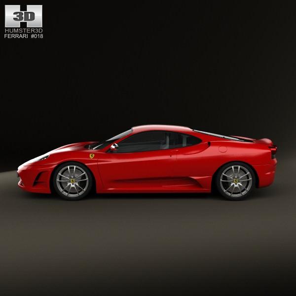 Cenário 3d Ferrari F430 Modelo 3d: Ferrari F430 Scuderia 2009 3D Model MAX OBJ 3DS FBX C4D