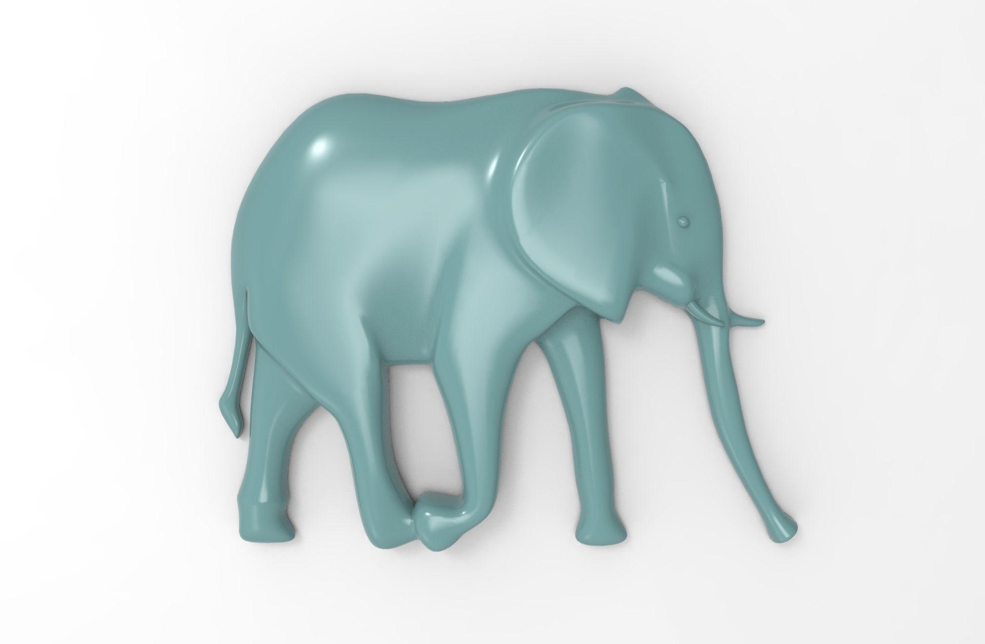 Printable Elephant Relief