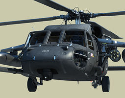army UH 60 black hawk helicopter 3D model