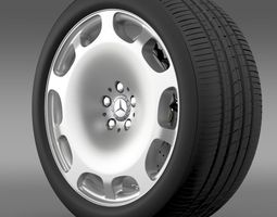 Mercedes Maybach wheel 3D Model