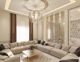 3D model area Living Room