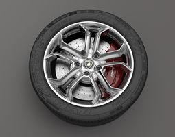 Wheel Lamborghini Aventador 3D model