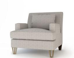 Baker Almandine Lounge Chair 3D