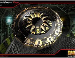 3d steampunk compass