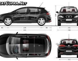 3d car blueprints