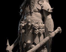 3D Barbarian Warrior character model -