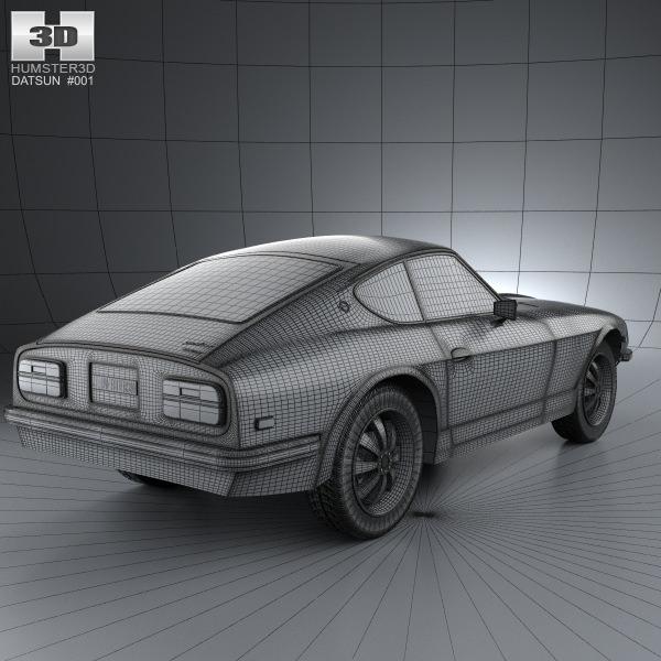 New Datsun Models: Datsun 240Z 1970 3D Model MAX OBJ 3DS FBX C4D LWO LW LWS