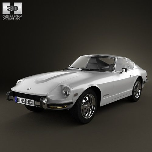 New Datsun Models: Datsun 240Z 1970 3D Model