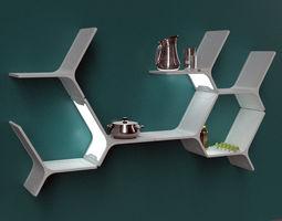 3D model modular shelves