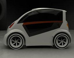 3D Electric car urban