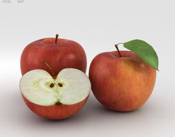 apple fruit Apple 3D