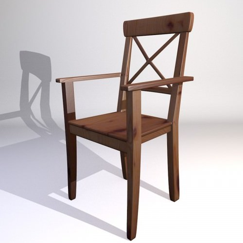 3d model ikea kitchen chair ingolf 3d model