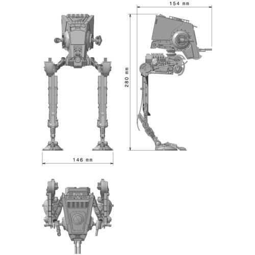 Star Wars Atst Walker Ready To Print With