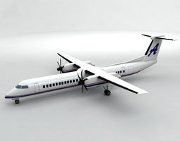 3D model Bombardier Q-400 Airliner