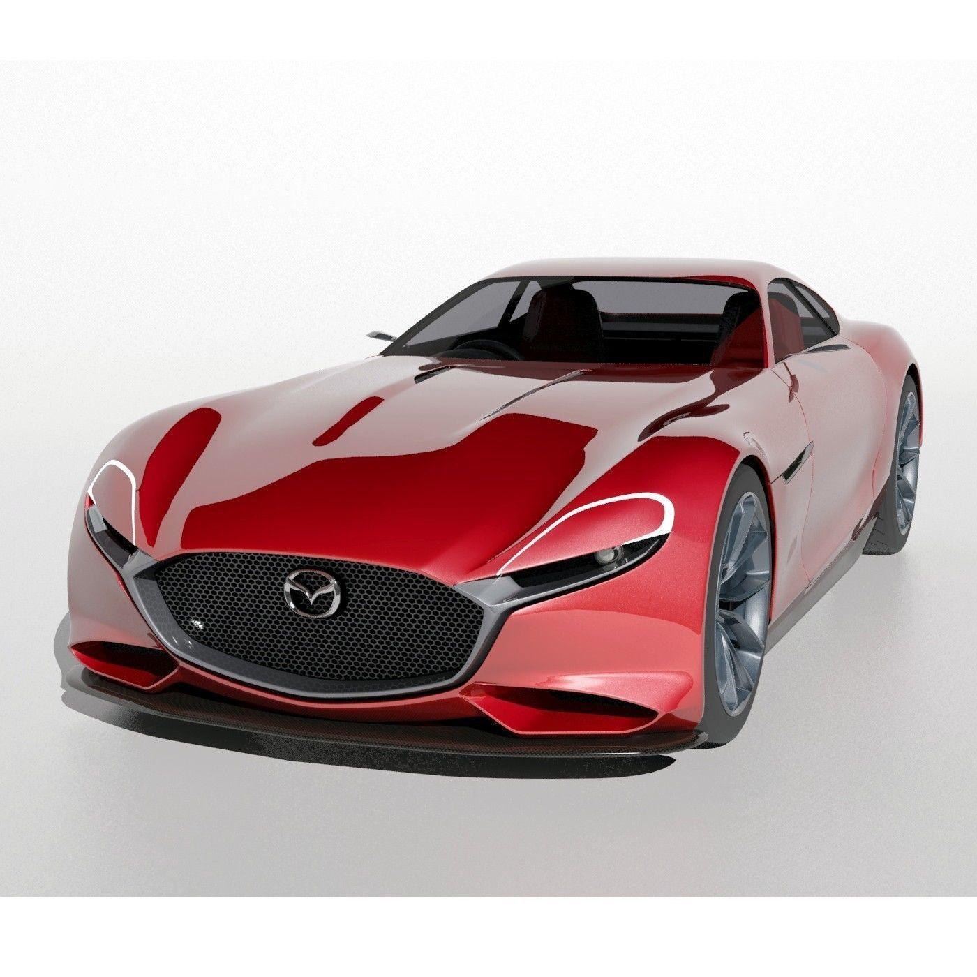 Mazda Vision RX Concept Car 3D Model MAX OBJ FBX