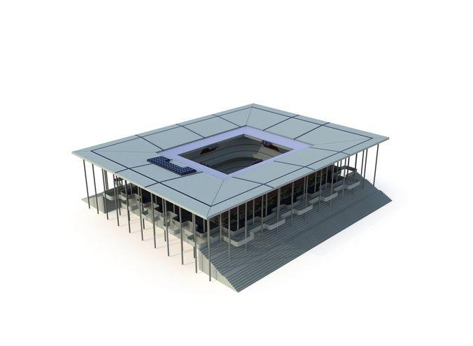 gymnasium   with lod 3d model low-poly max fbx ma mb tga 1
