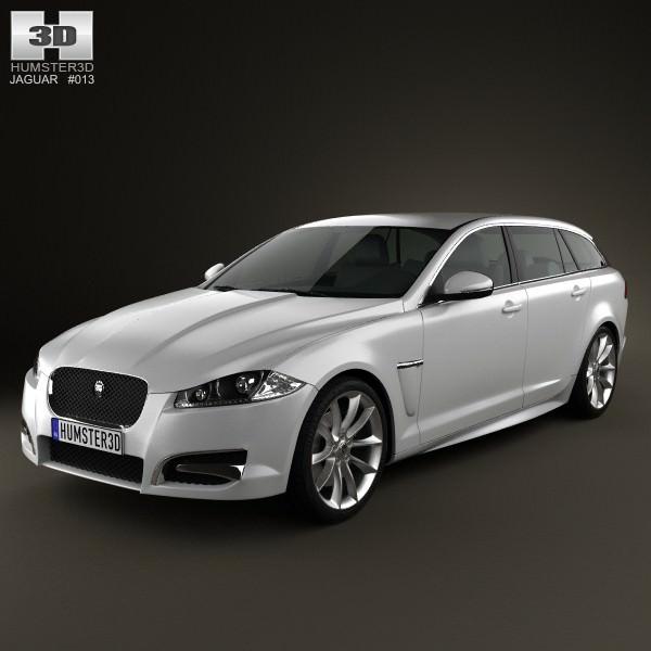 Jaguar Xf Sportbrake 2012 3d Model