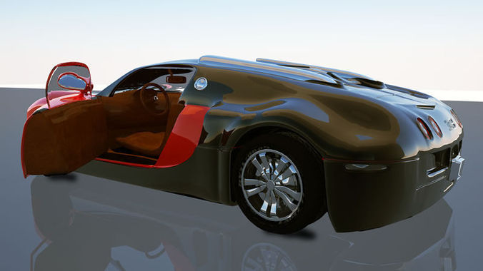 bugatti veyron 3d model lwo lw lws. Black Bedroom Furniture Sets. Home Design Ideas