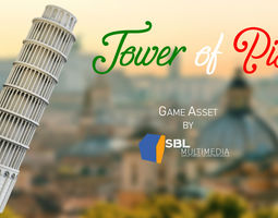 Tower Of Pisa Game Asset 3D model game-ready