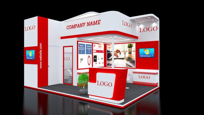Exhibition Booth Obj : Exhibition booth design d model max obj mtl ds fbx