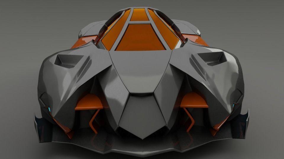 Lamborghini Egoista 3d Model Gallardo Cgtrader
