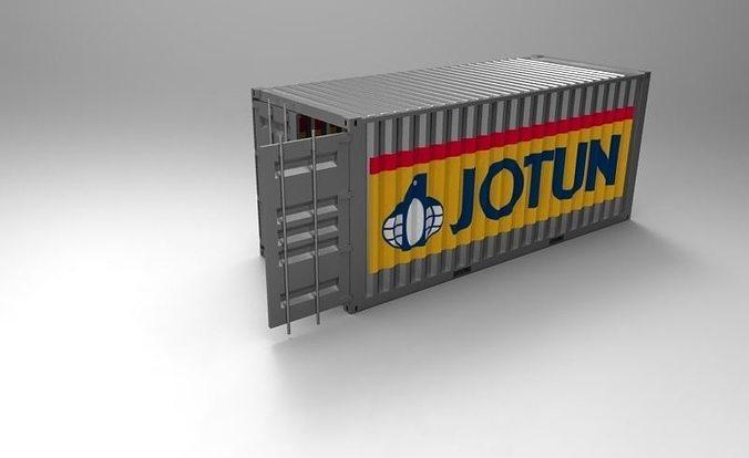 20ft container 1 3d model stl sldprt sldasm slddrw 1
