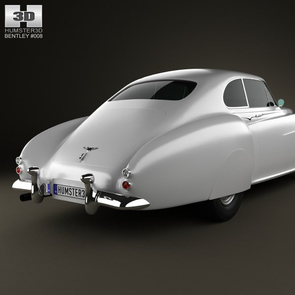 Cars Bentley Continental R 1992: Bentley R-Type Continental 1952 3D Model Game Ready .max