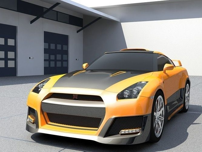 nissan skyline gt-r tuning 3d model max 3ds mat 1