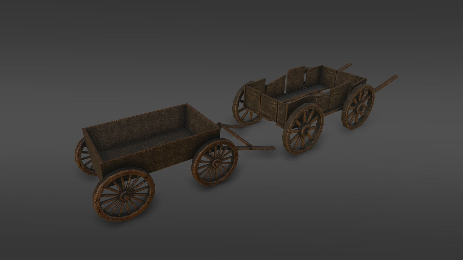 Medieval dray village pack