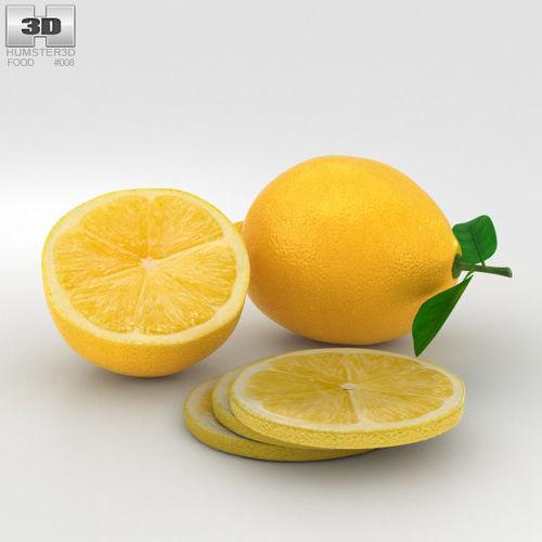 lemon 3d model max obj mtl 3ds fbx c4d lwo lw lws 1