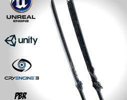 3D asset Dark Long Blade - Remake