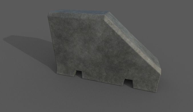concrete barrier type 12 3d model fbx 1