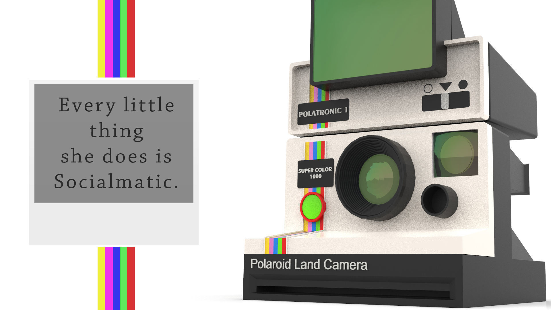 photo relating to Camera Printable called Polaroid Land Digicam 1000 3D Print Design