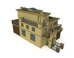 3D low poly Villa with LOD game-ready